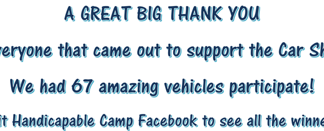 Thank You to Supporters of Our Car Show